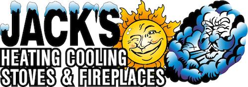 Jack's Heating, Cooling, Stoves & Fireplaces Logo